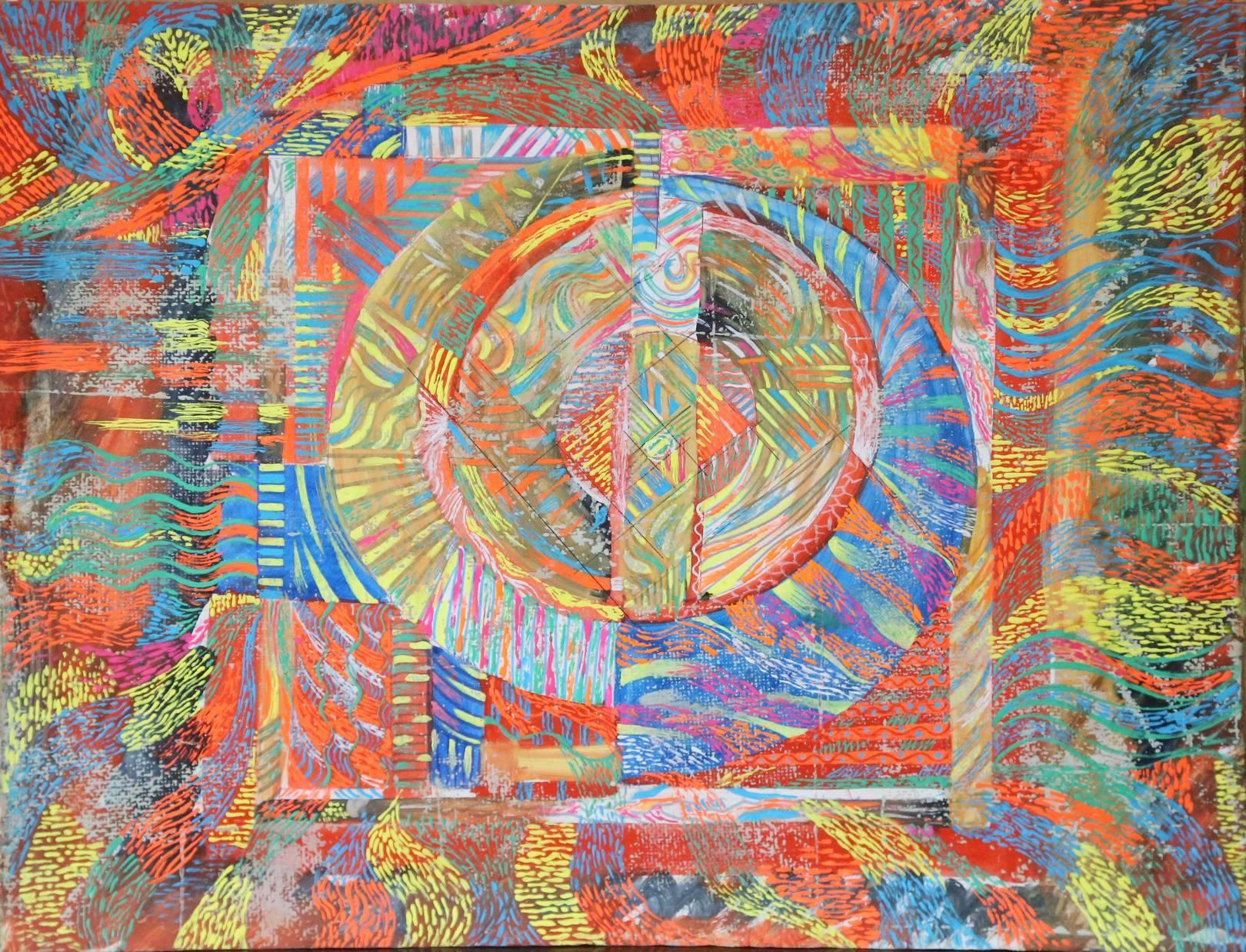 """""""ПРОБУЖДЕНИЕ"""", 1990 г, бумага, гуашь, 50х40см AWAKENING  50х40 сm cardboard, gouache  Я планов громадье на завтра отложу  И все успею - никогда не поздно –  Вселенная юнна, как первоцвет в лесу,  А новые - не скоро лягут в гнезда."""
