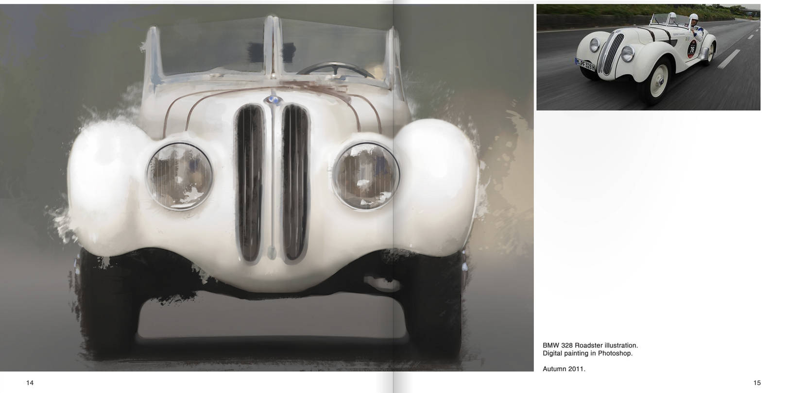 BMW 328 Roadster illustration