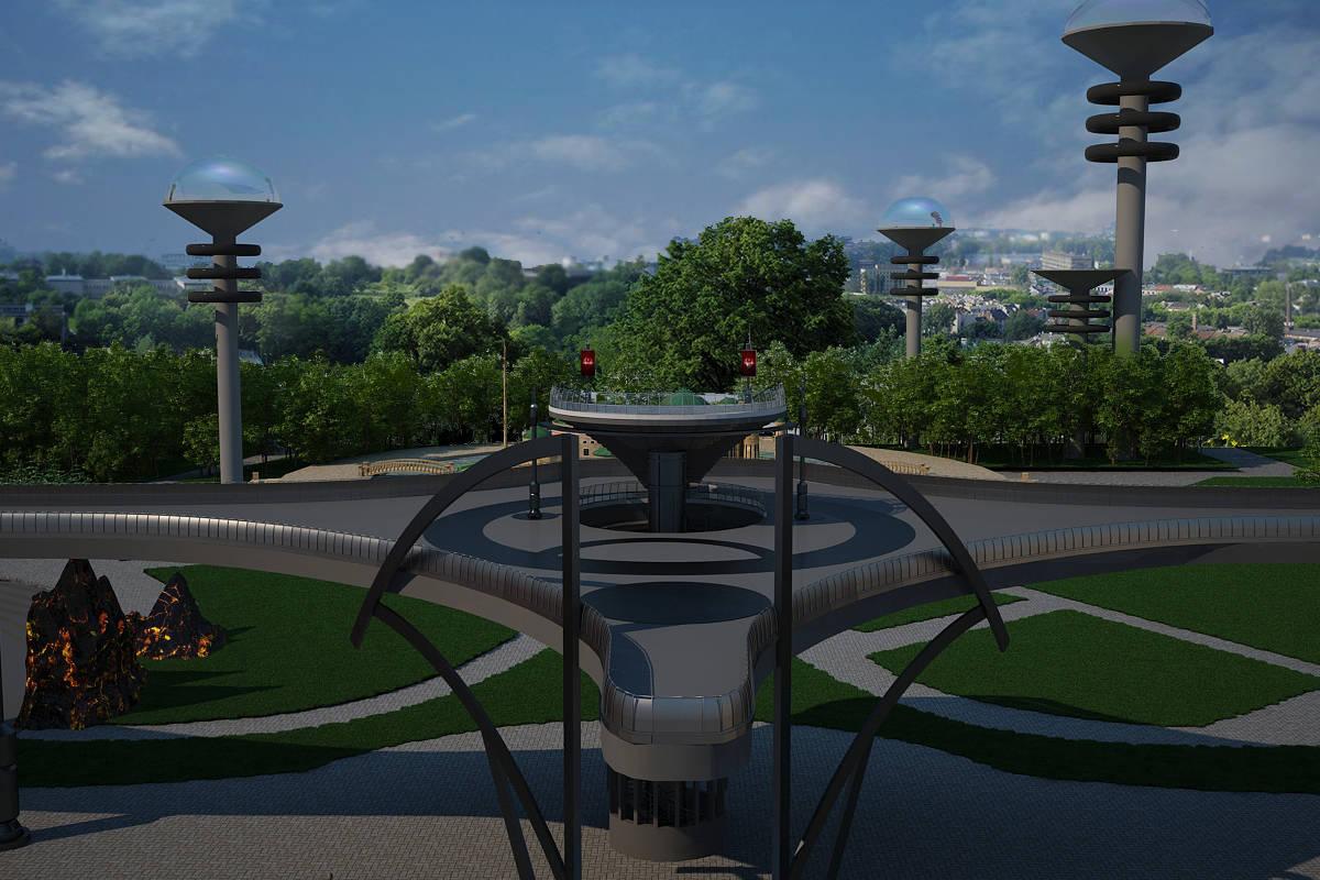 """Дизайн-проект ландшафта парковой зоны """"Новая надежда"""".Входная группа."""