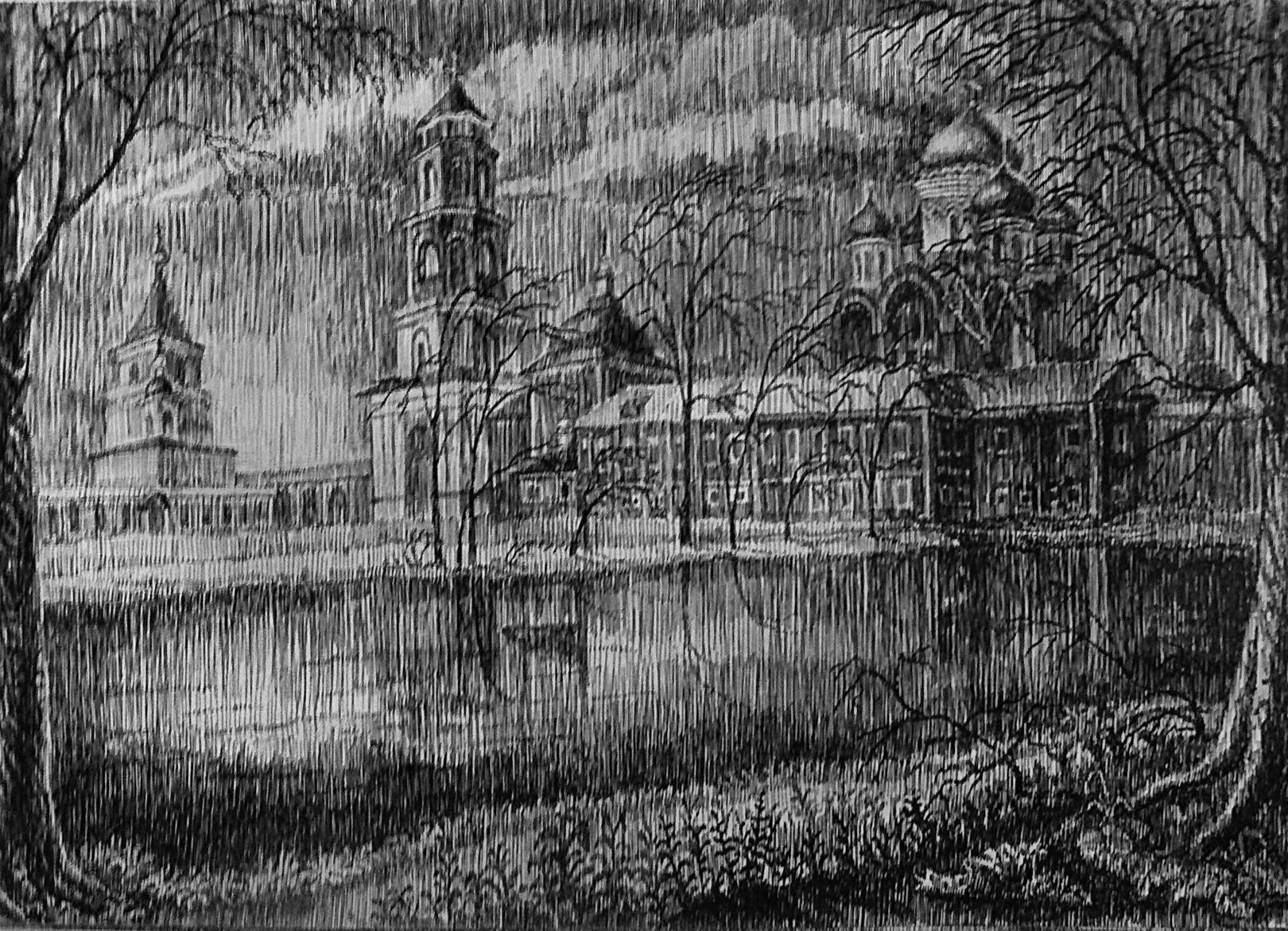 Панорама Николо-Угрешского монастыря.