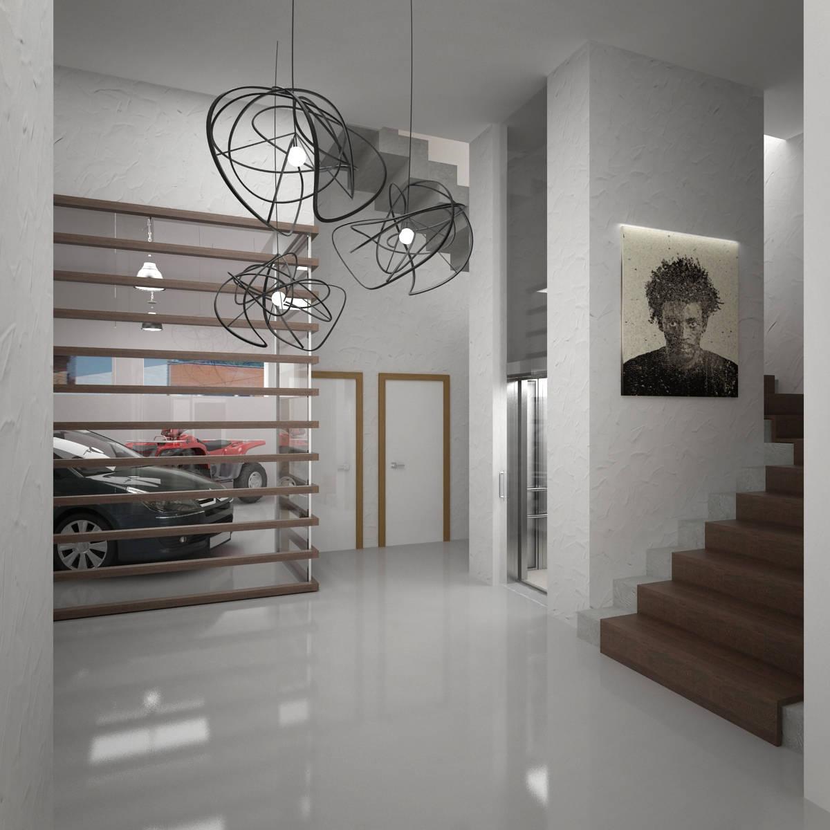 интерьер трехэтажного таунхауса