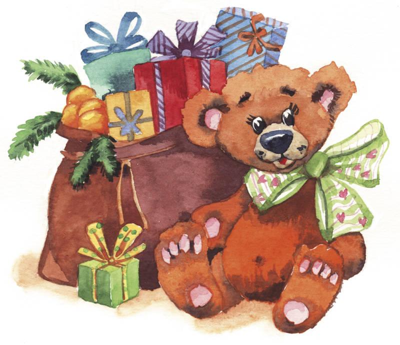"""""""Подарки"""". Акварель."""