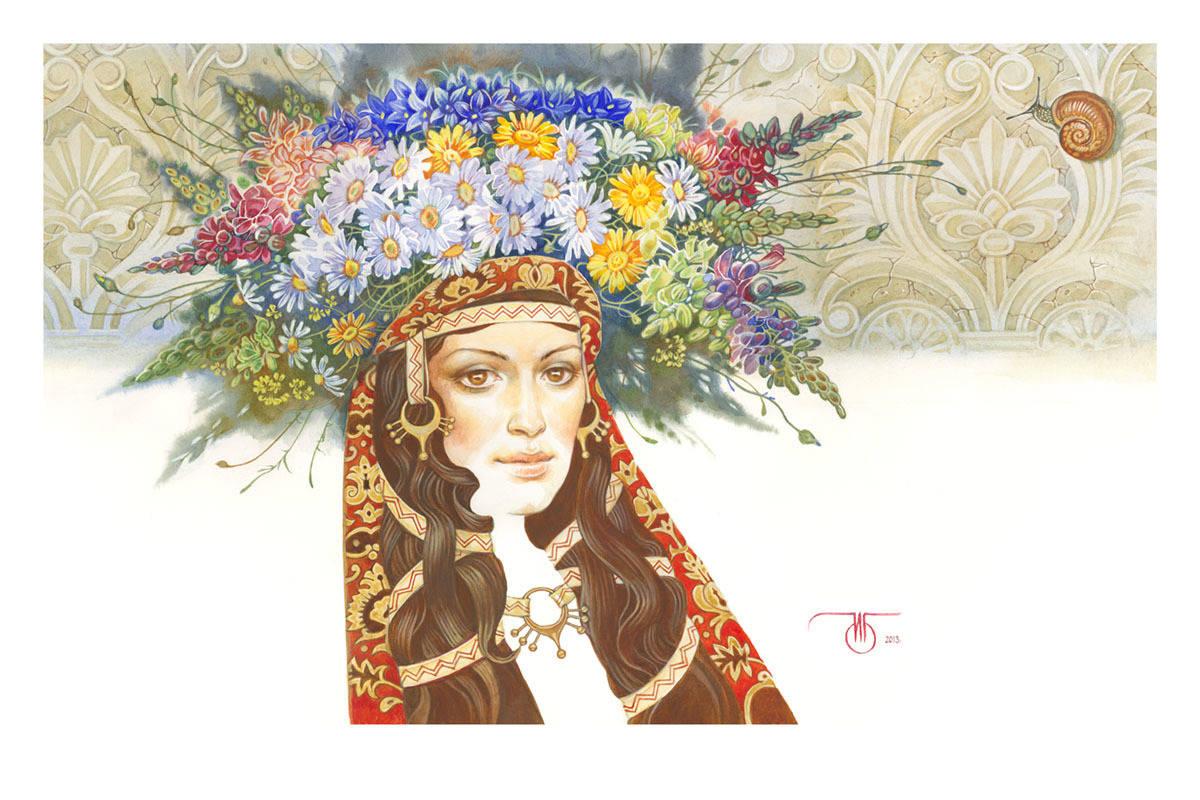 """Времена года в женских портретах """"Июнь"""""""