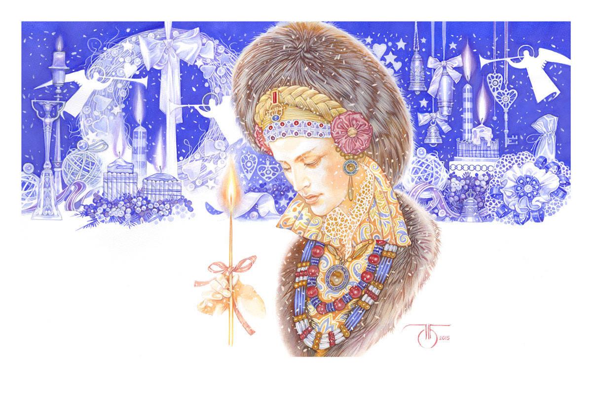 """Времена года в женских портретах """"Декабрь"""""""