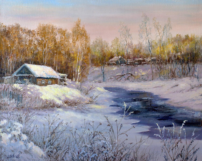 """А утром пришла зима..."" - х/м, 40х50"