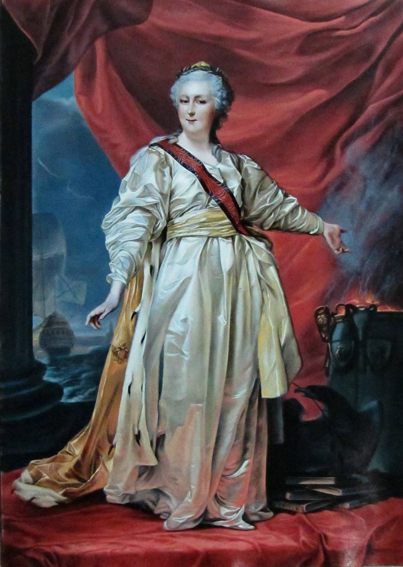 Екатерина II. Копия. Кожа, масло, 2012