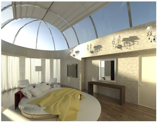 Спальня под куполом