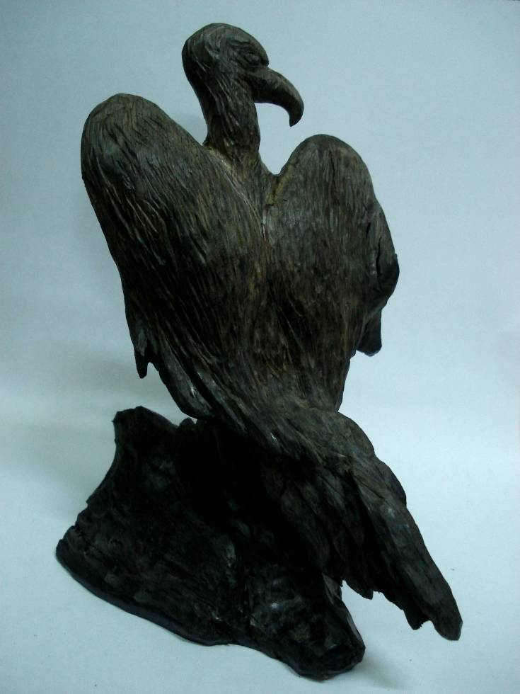 Гриф, морёный дуб, 20 см