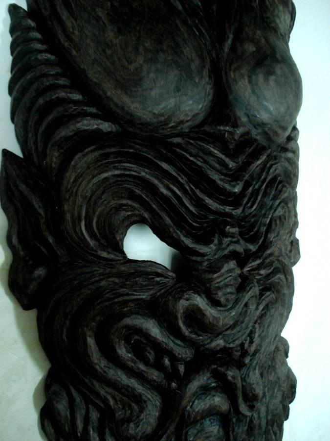 Бес, морёный дуб, 90 см