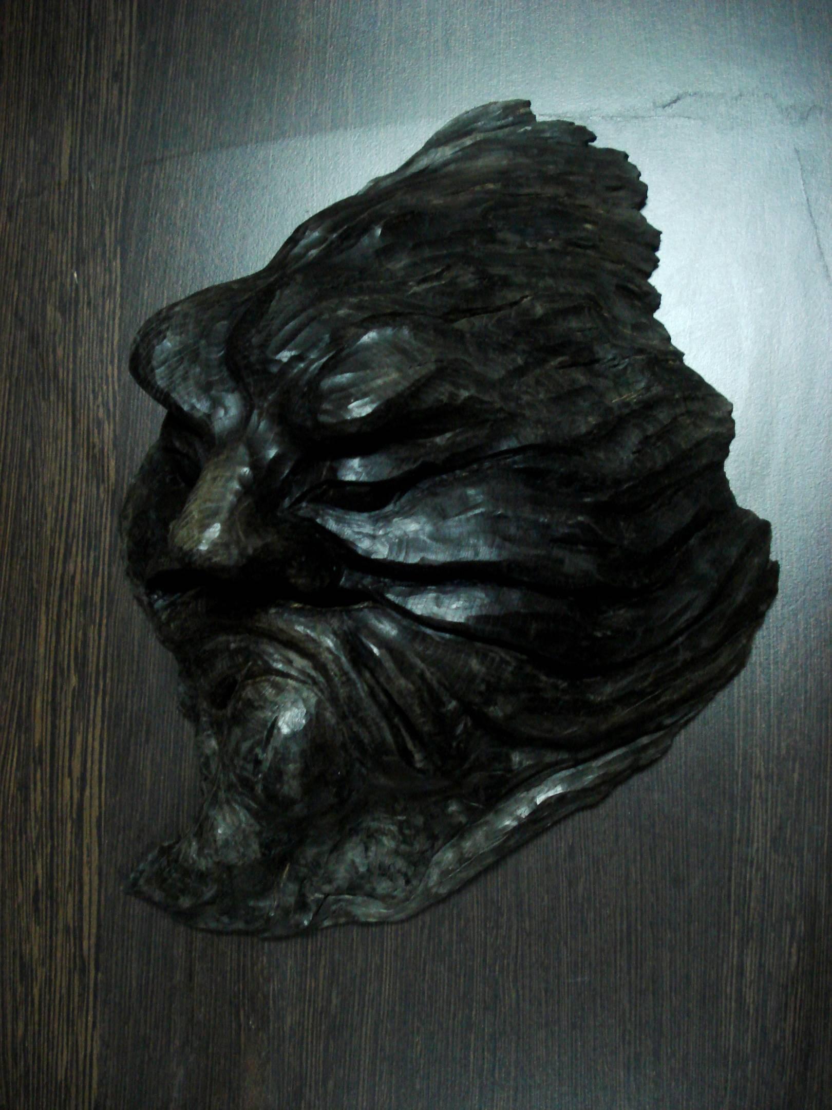 """Маска """"Фавн"""", морёный дуб, 28х20х10 см"""