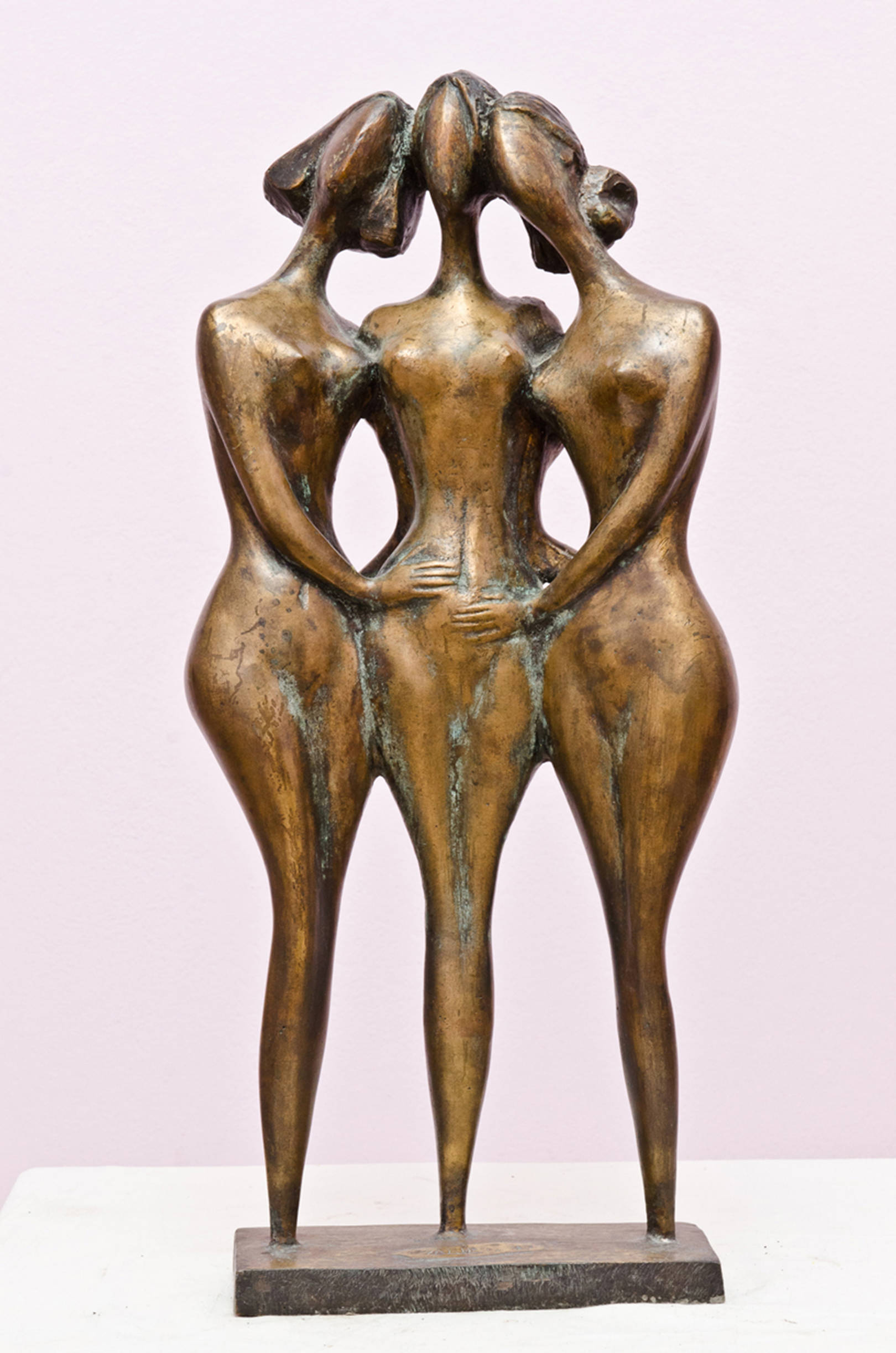 Three friends 1999year.bronza..56x28x16sm.8500 $