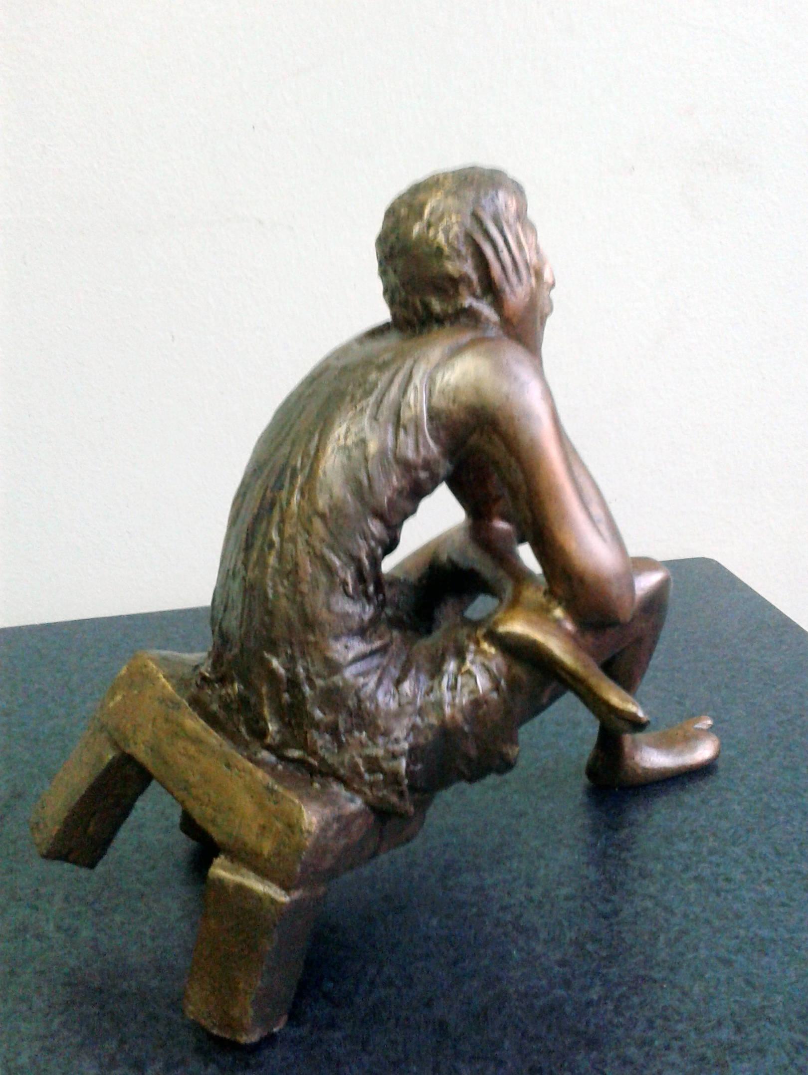 .Meditation.2012 year ,bronza h16x30x16cm 8500 $