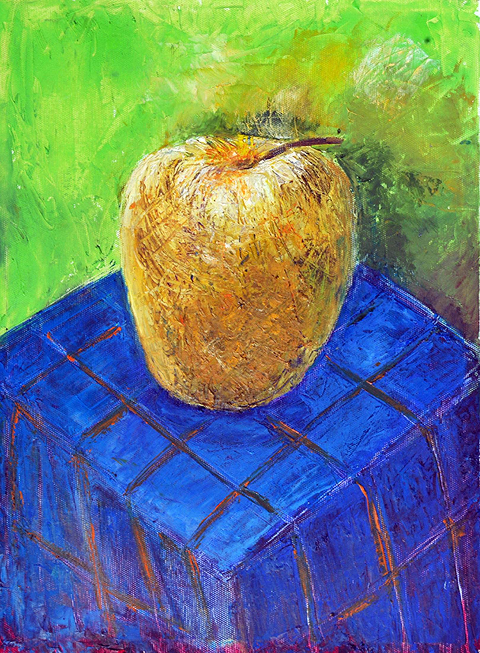 .APPLE2014year oil on canvas 30X40 cm1500$