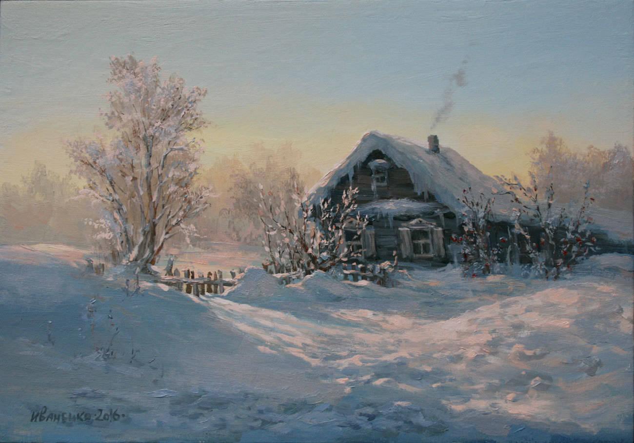 Зимнее дыханье, 35х50, холст, масло, 2016