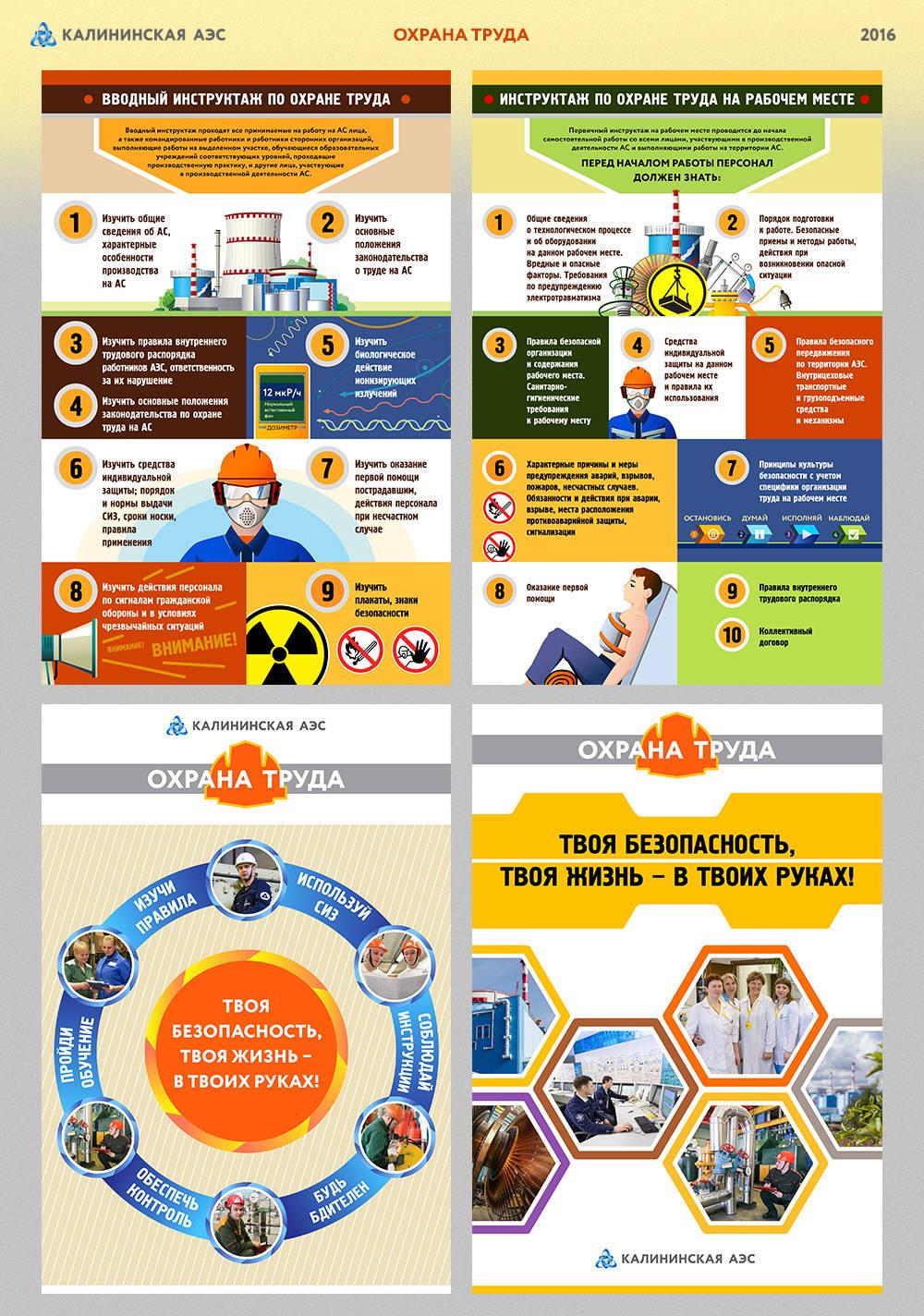 Оформление плакатов и баннеров по теме Охрана труда на АЭС
