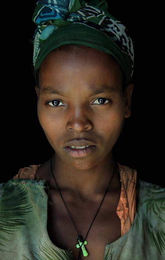 Женщина из племени Гураге проживающих на юге Эфиопии.