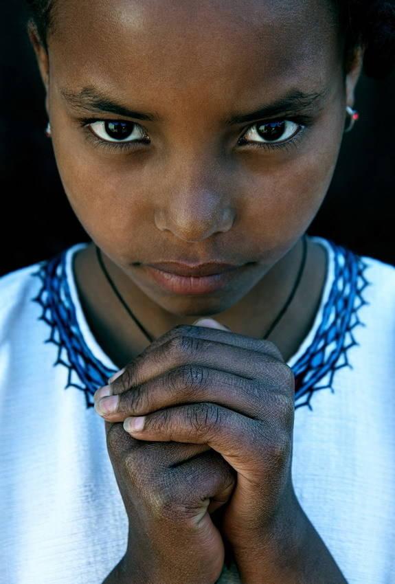 Девочка по имени Берекет из города Аддис-Абебы