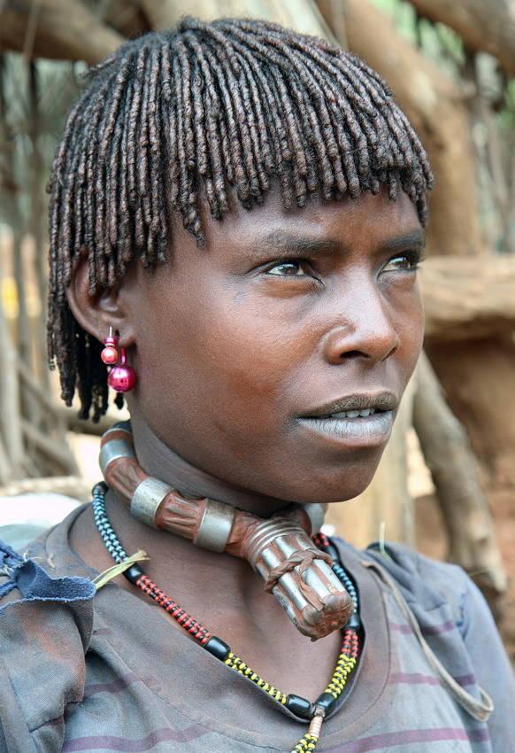 Женщина из племени Хамер проживающих на юге Эфиопии