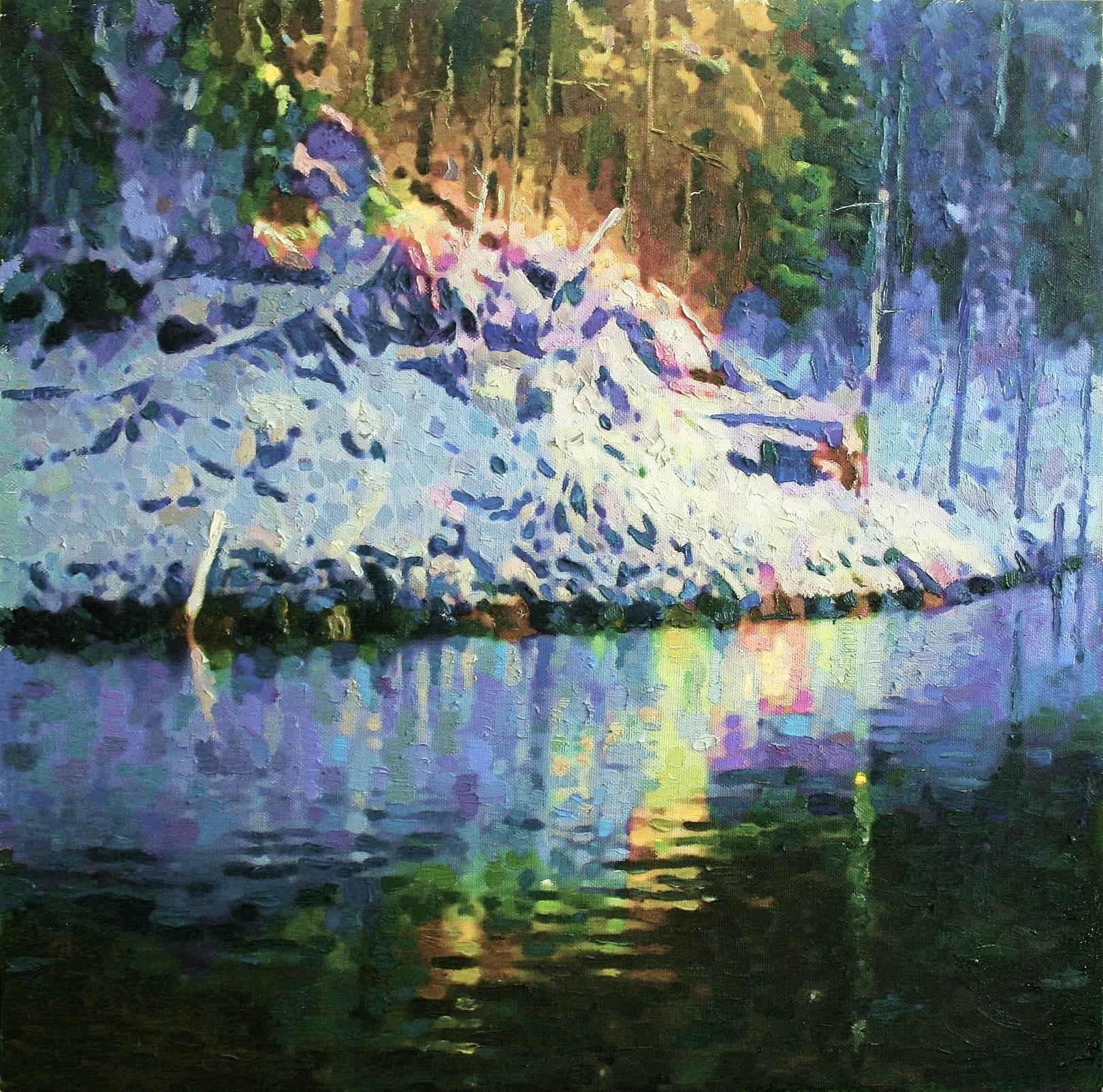 """Winter lake"" 80х80cm"
