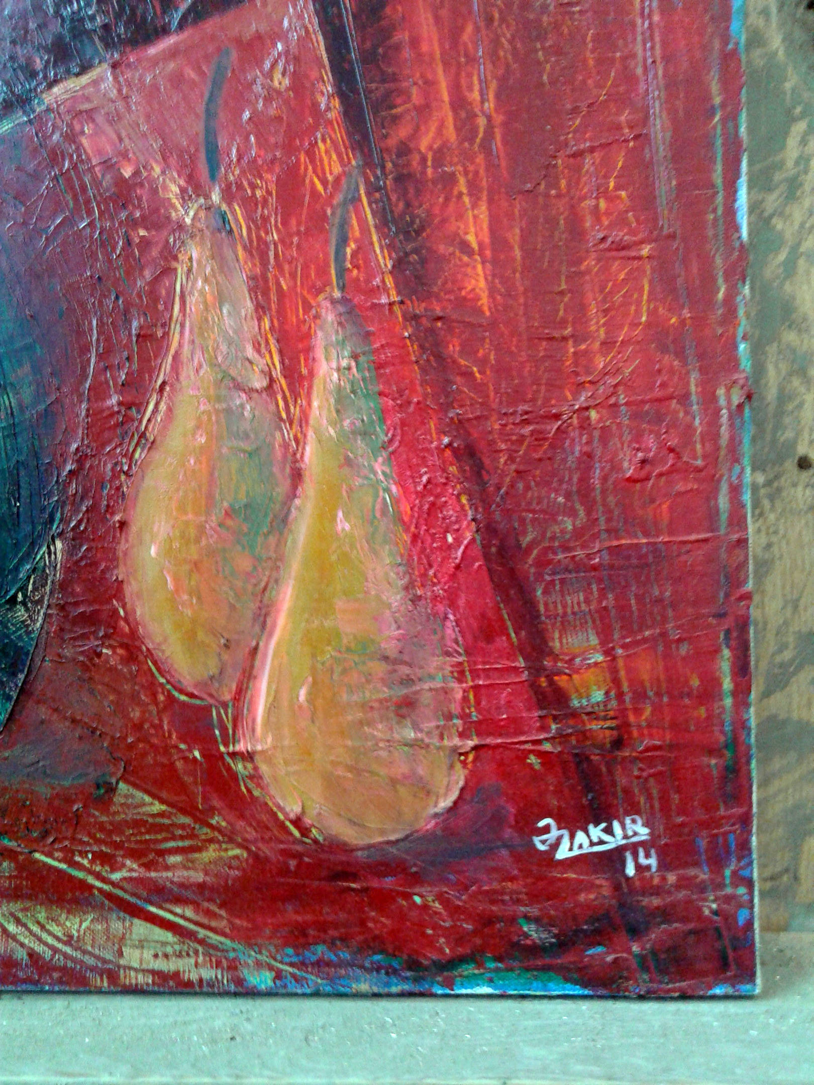 Pears 2014year21x17in Original Painting Oil on Canvas 2500$