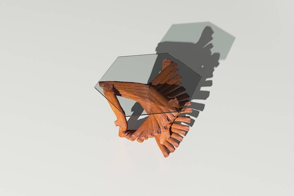 Журнальный стол в стиле live edge «Вихрь»