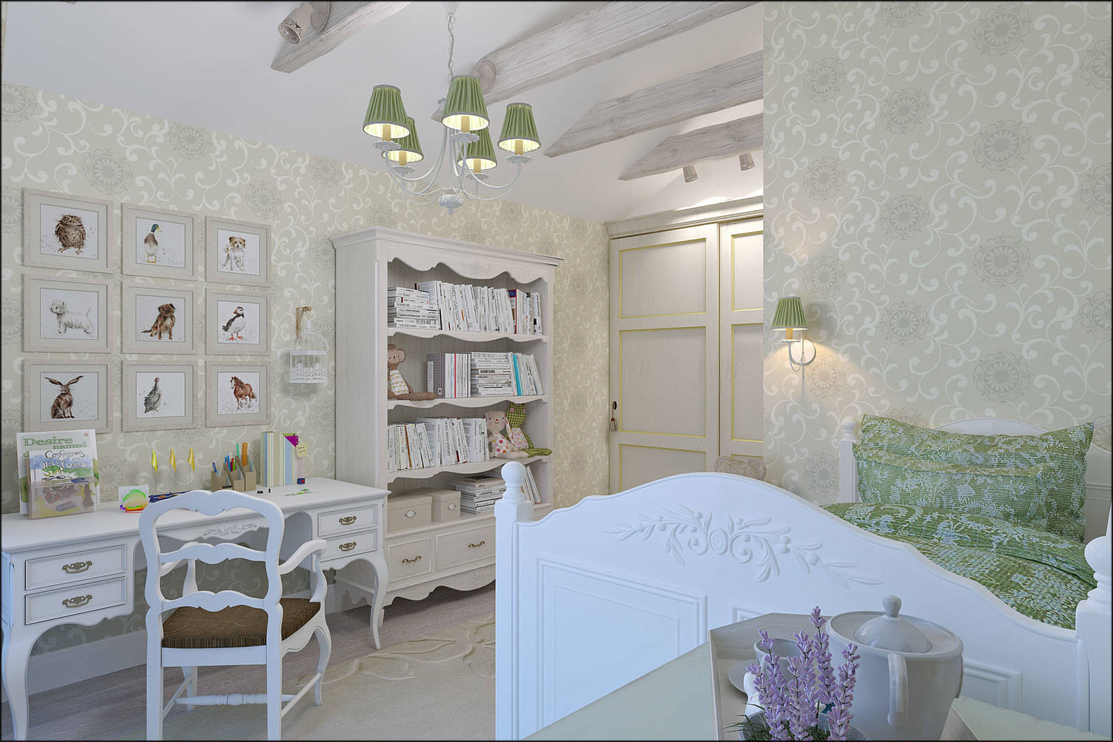 """interior of the cottage """"Snow Provence"""""""