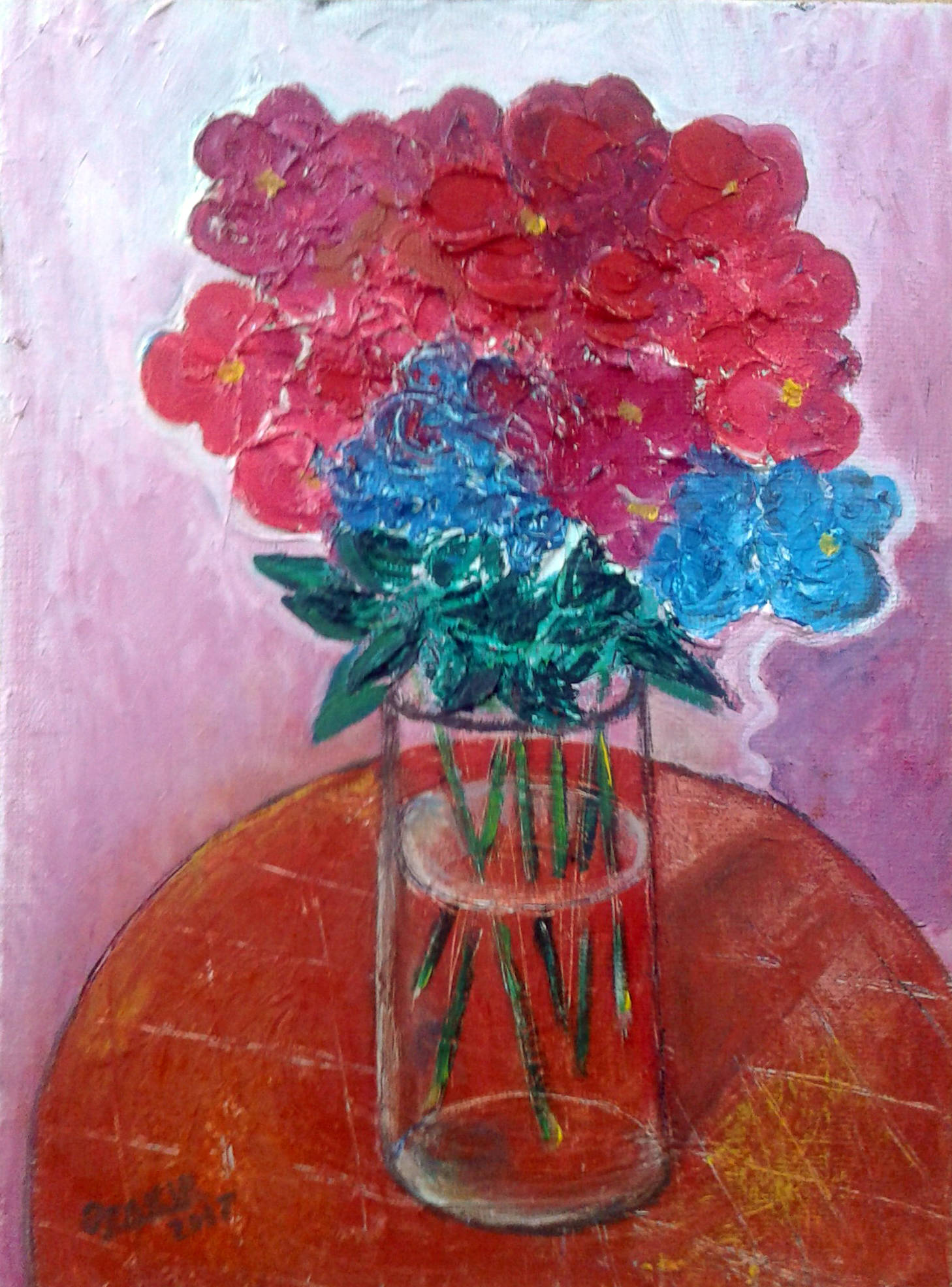 .Autumn flowers2017year oil on canvas 40X30 cm1500$