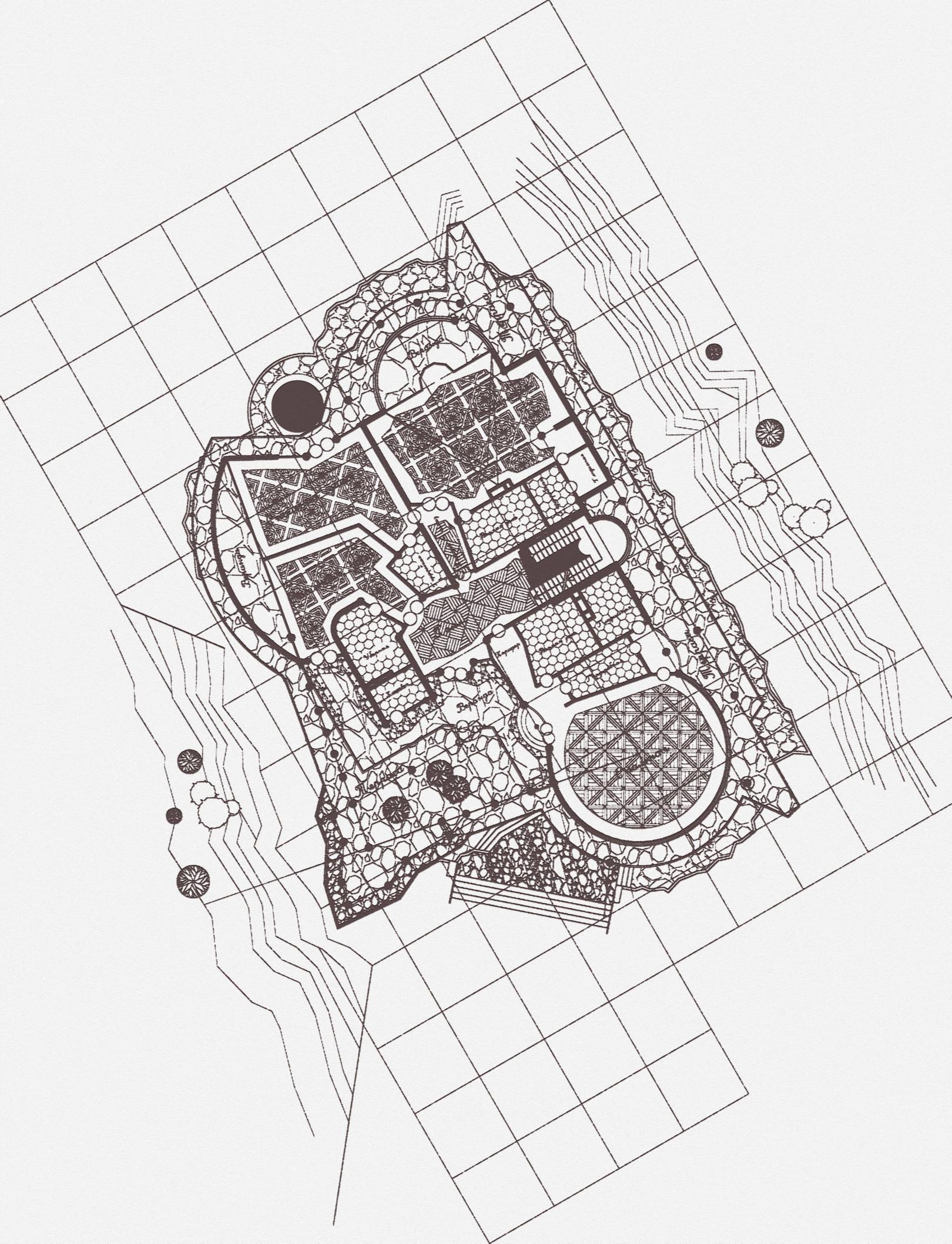 ВИЛЛА. План второго этажа. (Один из Вариантов.)