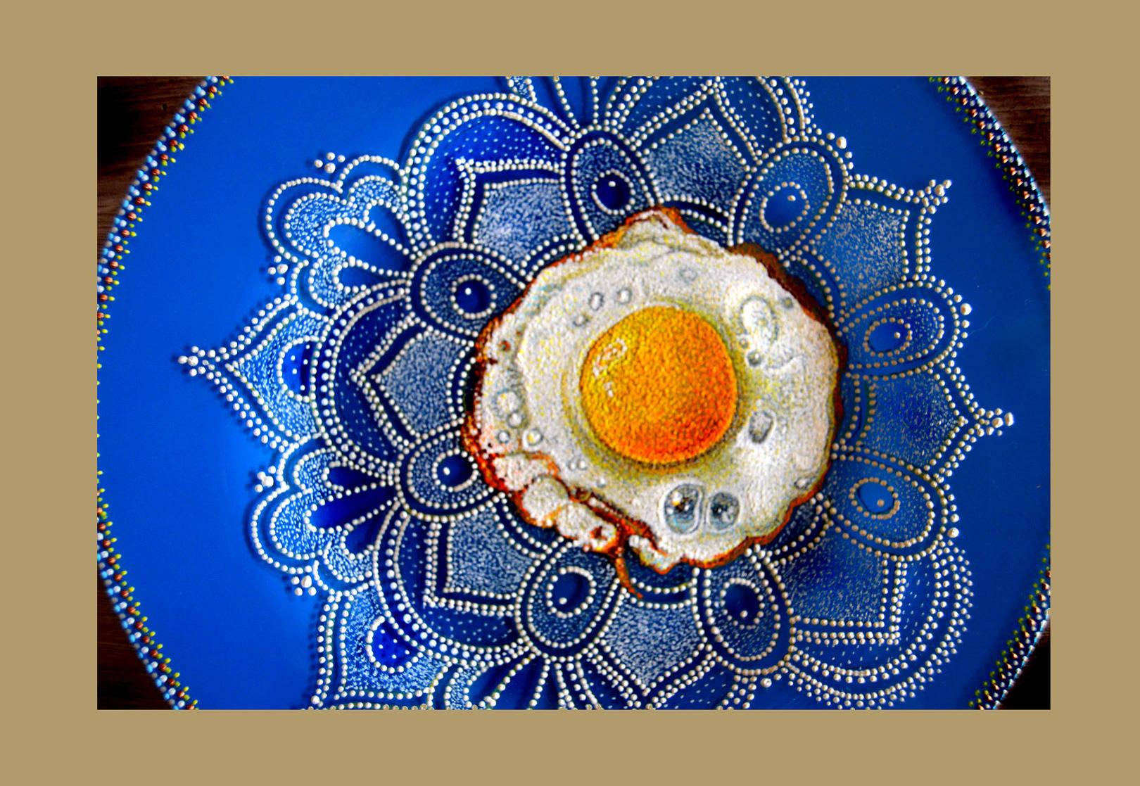 живопись на стеклянных тарелках
