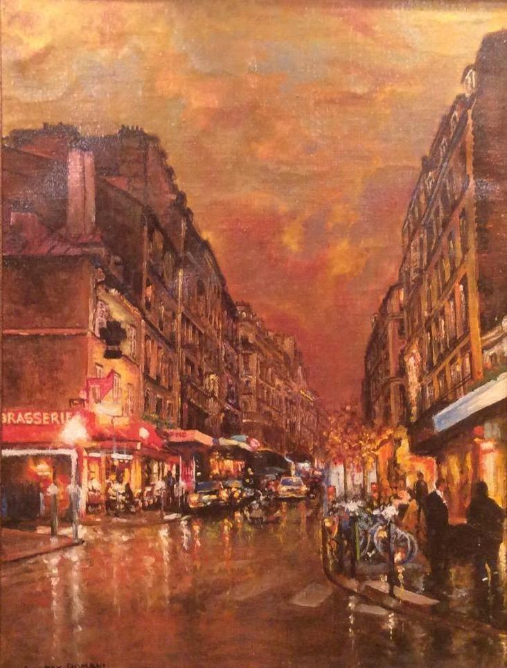 Вечер в Париже ( холст, масло 40 х 60 ) Мой импрессионизм
