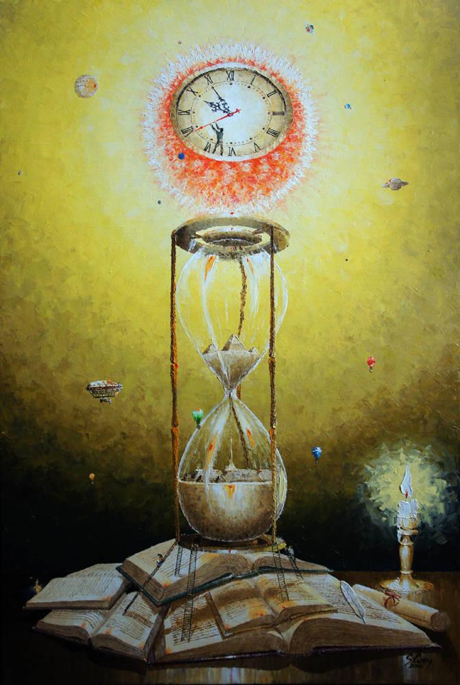 Сквозь призму времени, 60х90 см., масло, холст, 2016