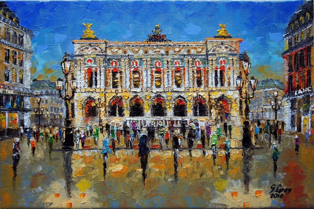 Opera National de Paris, 30х20 см., масло, холст на картоне, 2016