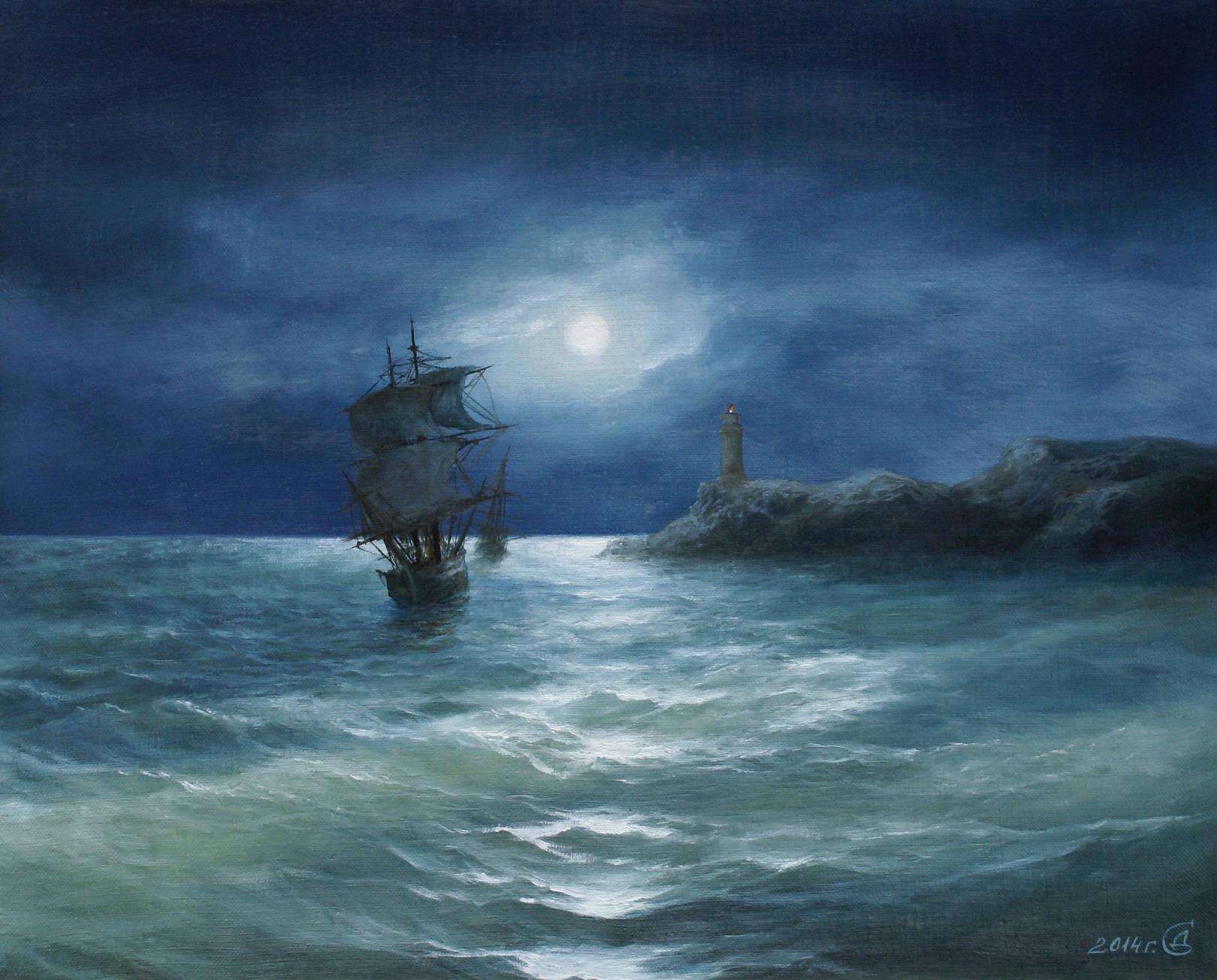 Лунная соната - холст/масло, 40х50, 2014