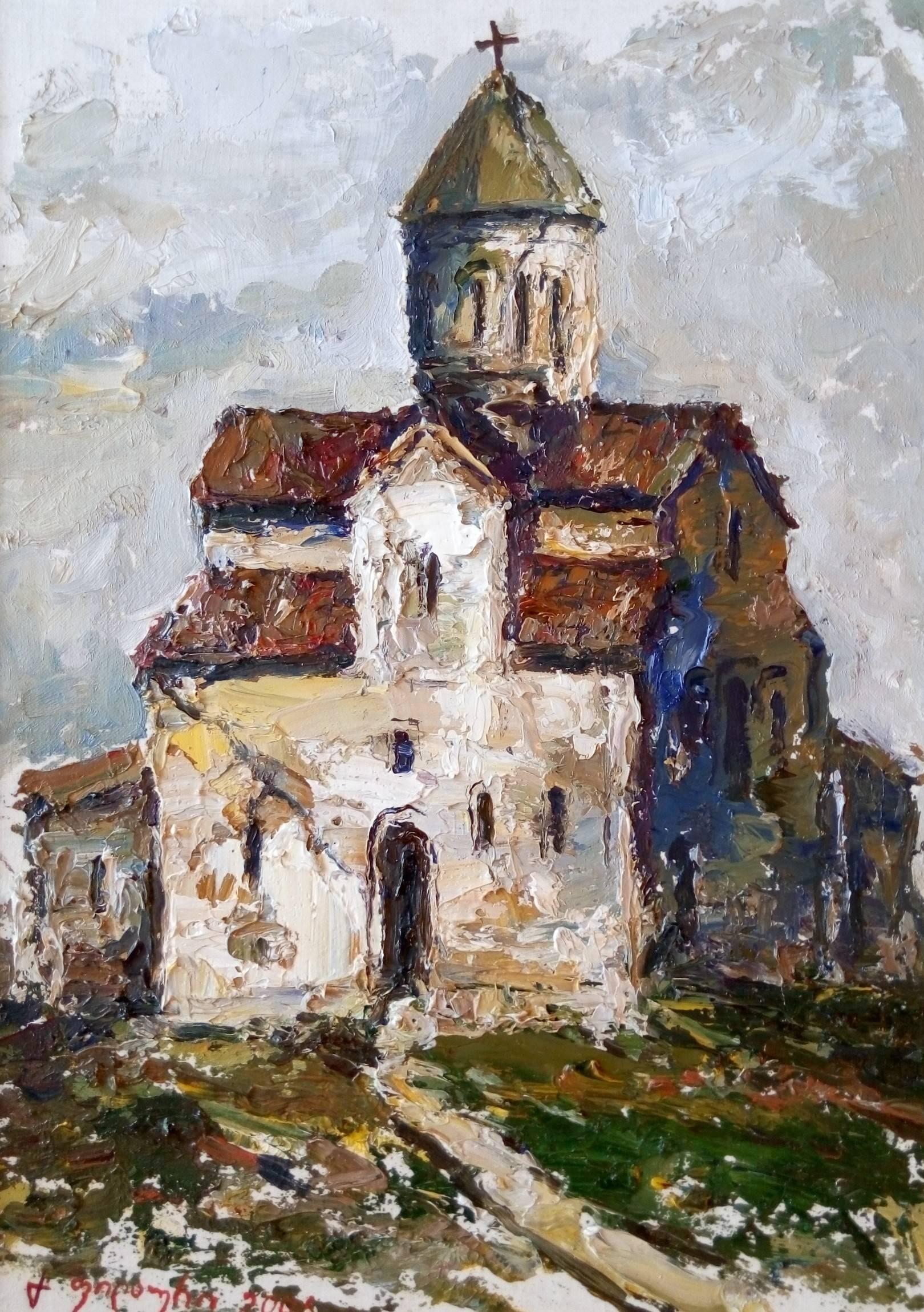 «Старая церковь, Цугурашени»   холст, масло «Old Church, Tsughurasheni»        oil on canvas 28x20, 2006