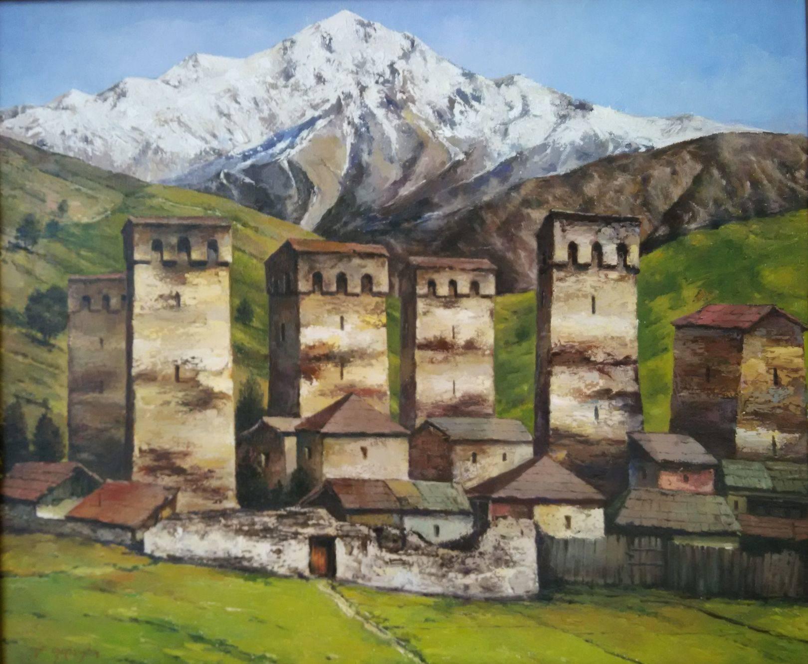 «Сванети»       холст, масло «Svaneti»         oil on canvas 50x60, 2015