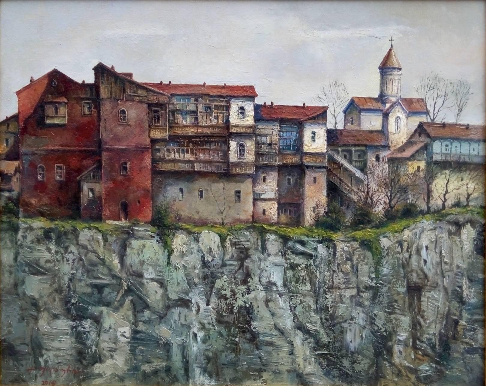 «Старый Тбилиси, Метехи»     холст, масло «Old Tbilisi, Metekhi»                 oil on canvas 40x50, 2015