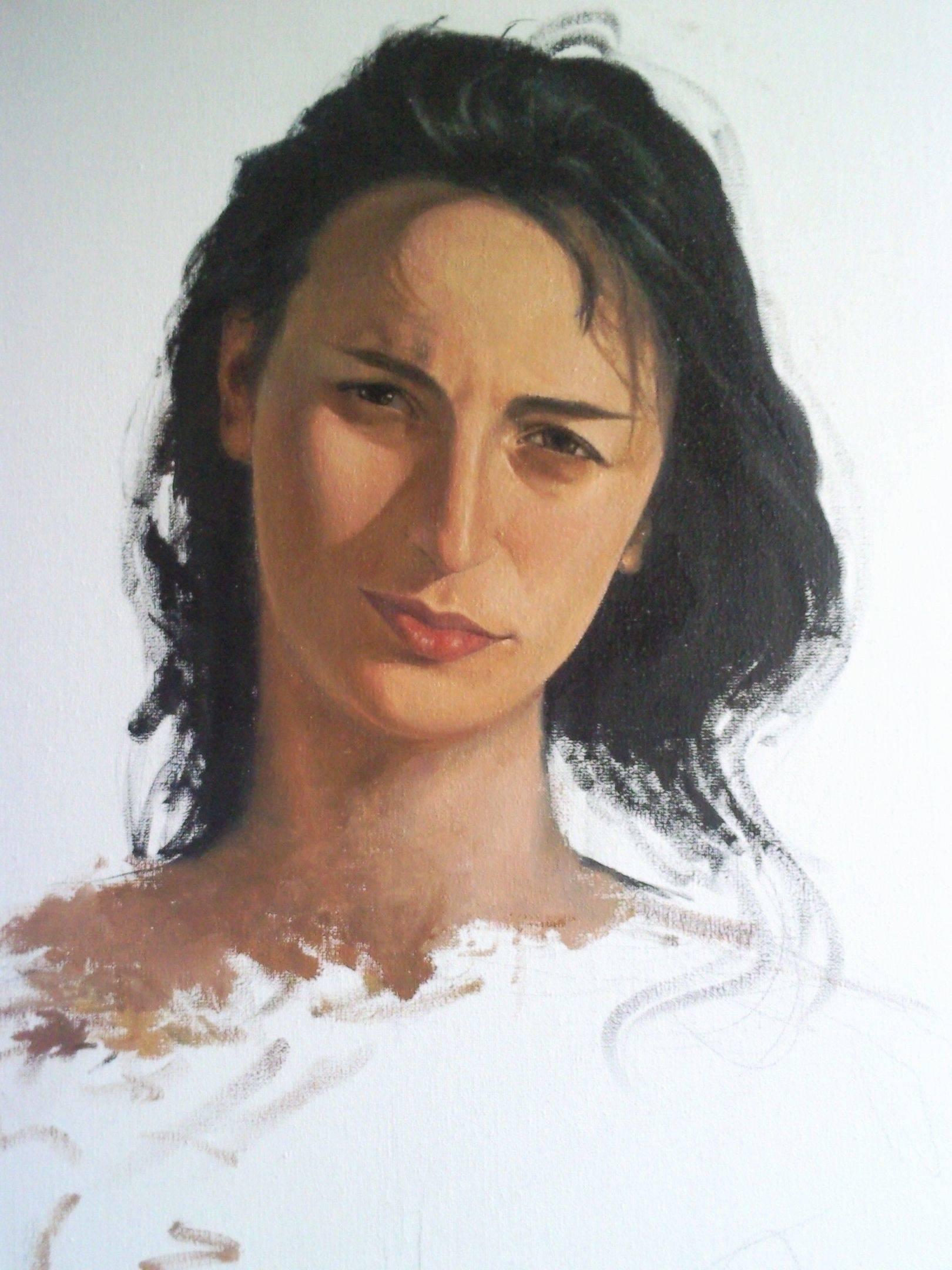 «Портрет Нини»     холст, масло «Portrait of Nini»      oil on canvas 70x50, 2012