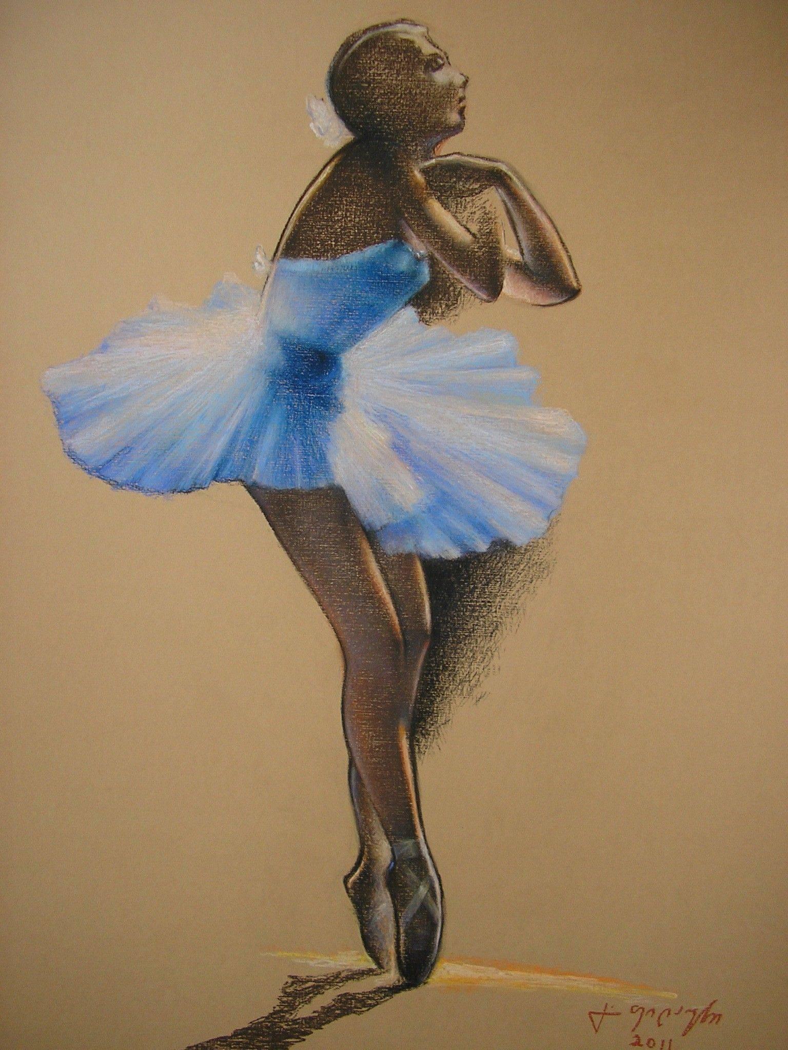 «Балерина»     бумага, пастель «Ballerina»        paper, pastel 45x35, 2011