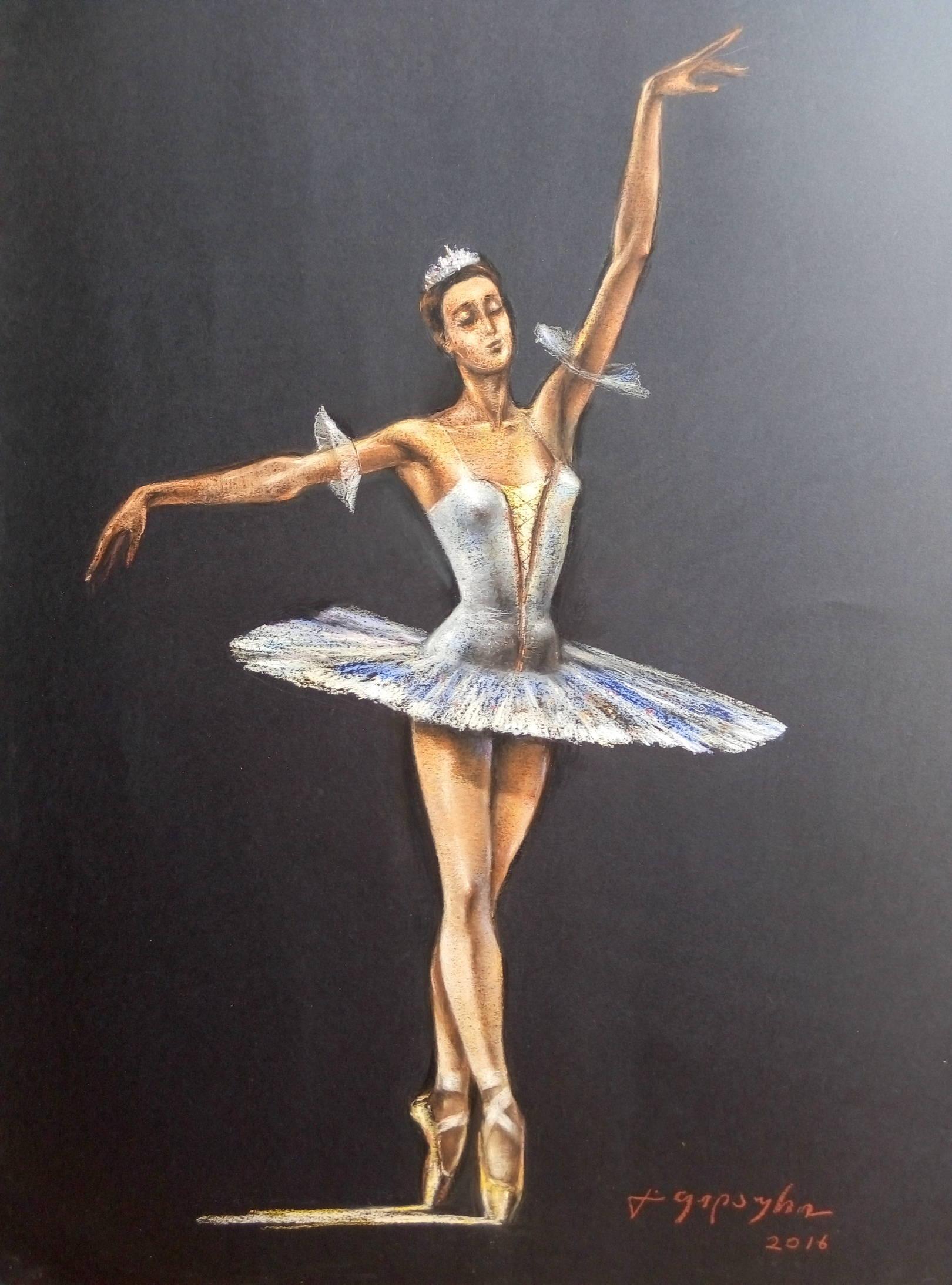 «Балерина»      бумага, пастель «Ballerina»         paper, pastel           65x45, 2016