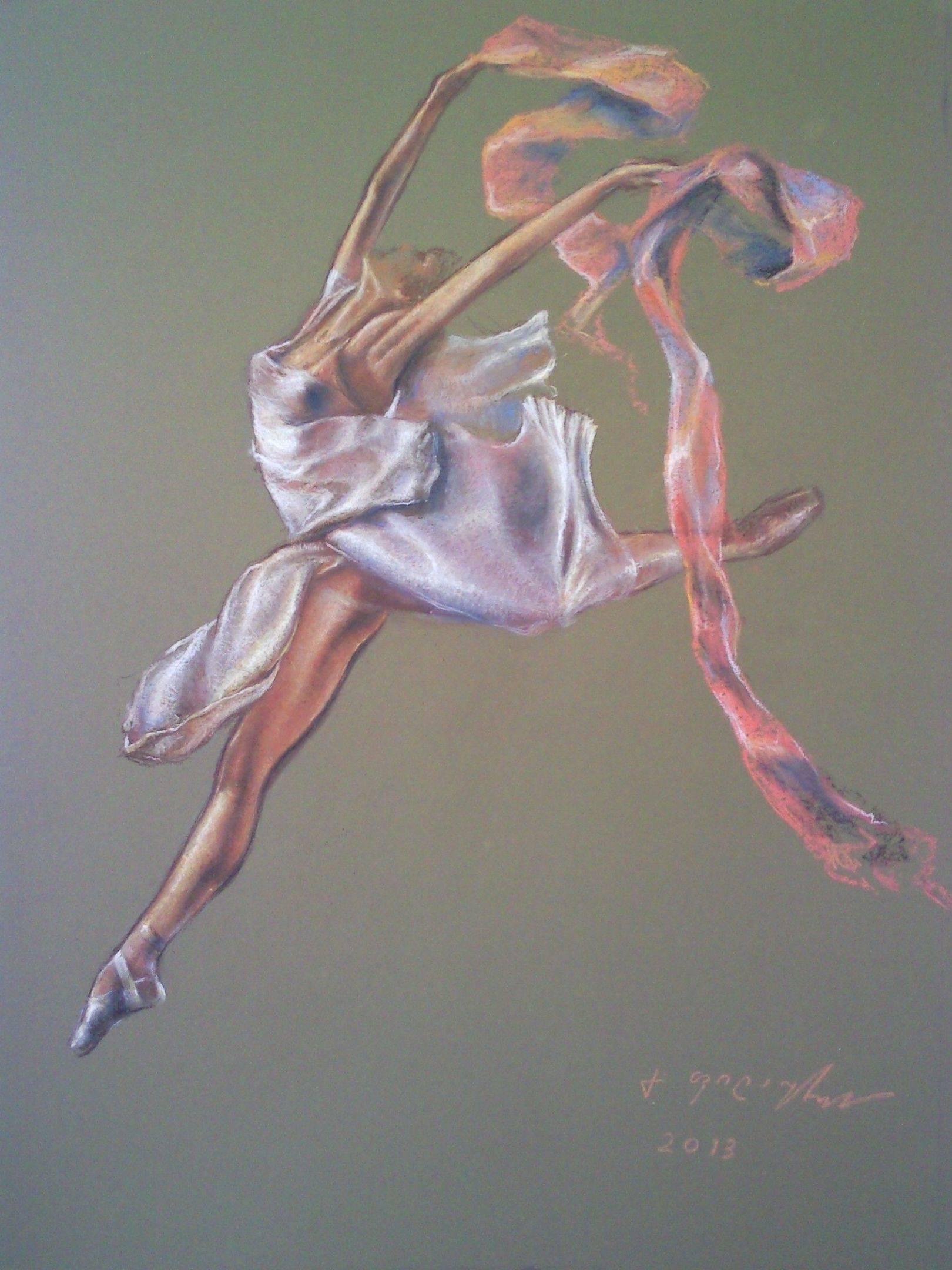 «Танец»        бумага, пастель «Dance»        paper, pastel           55x43, 2013