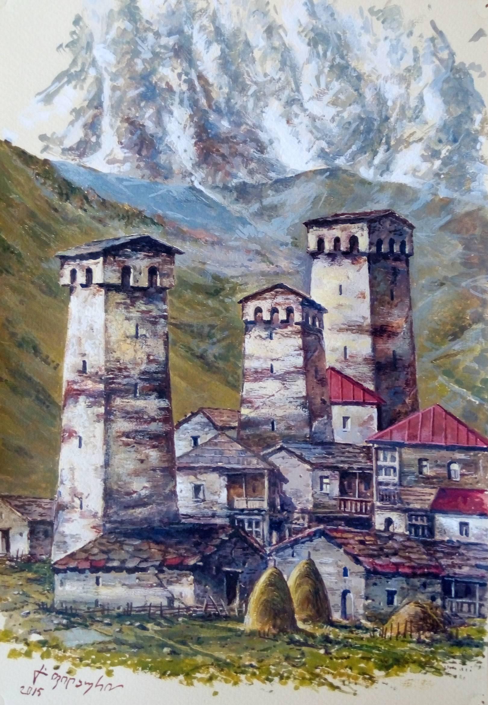 «Сванети»      бумага, акварель, гуашь «Svaneti»        paper, aquarelle, gouache  30x20, 2015