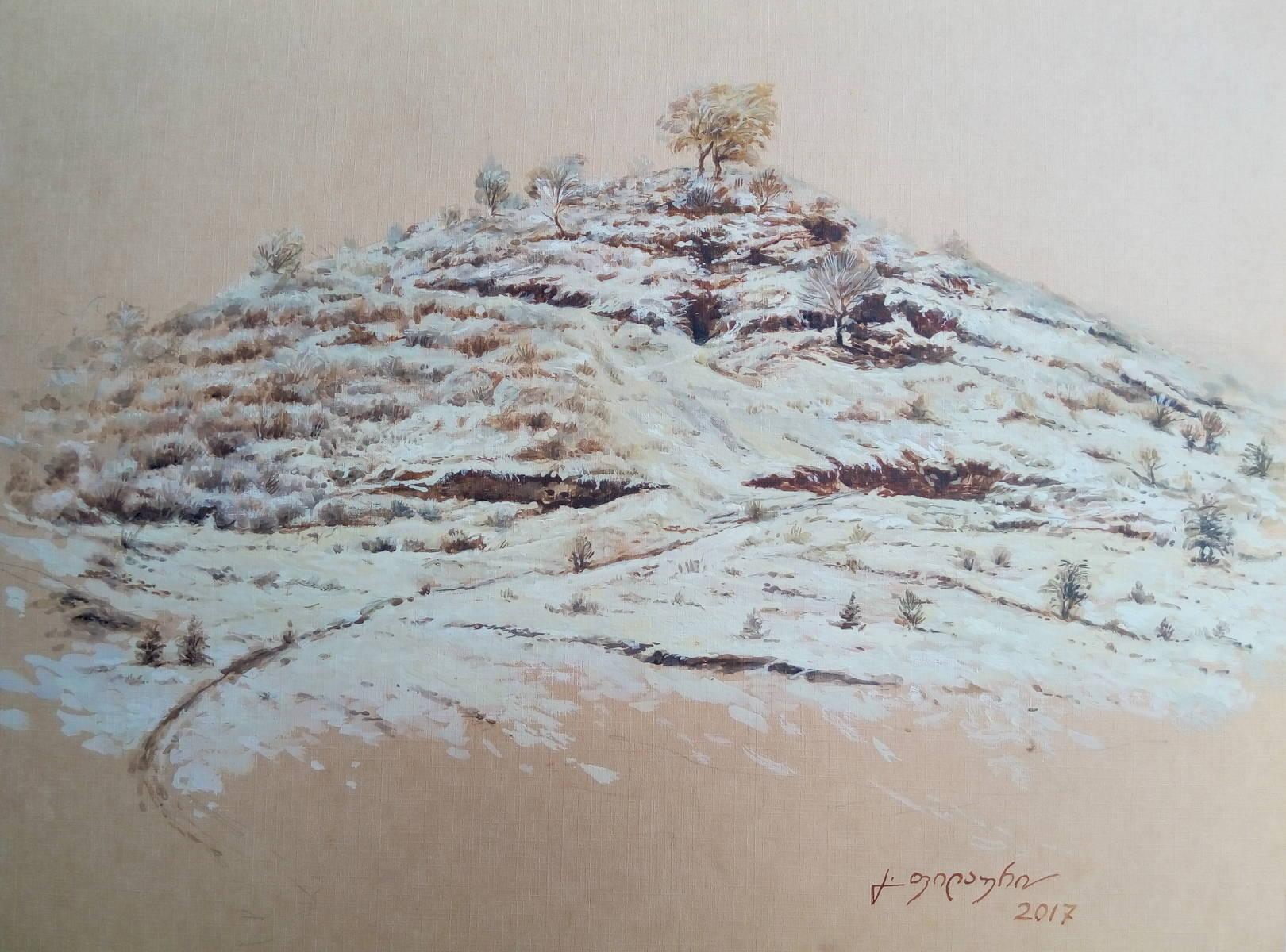 «Сакдриси»           бумага, акварель, гуашь «Sakdrisi»               paper, aquarelle, gouache 30x40, 2017