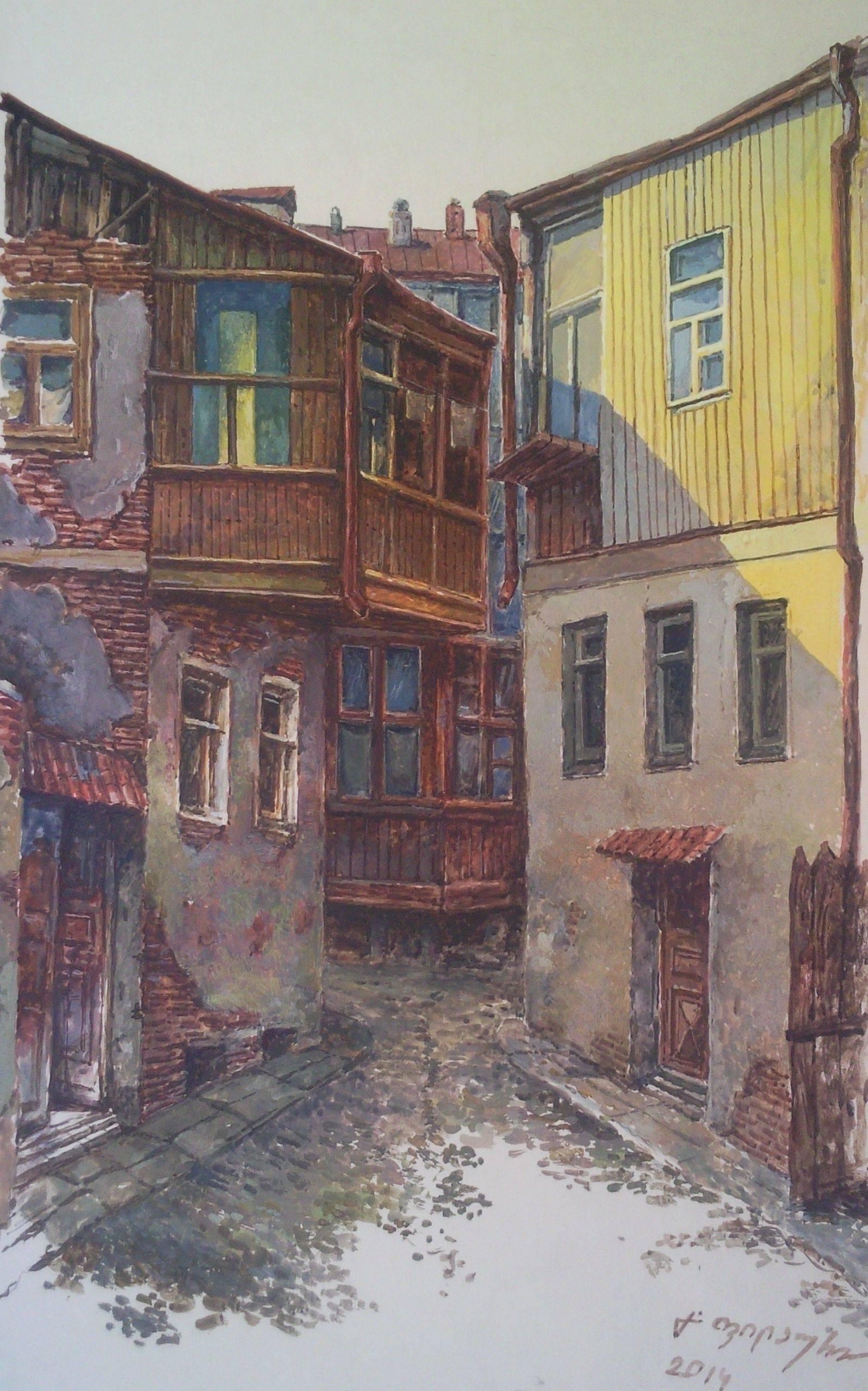 «Старый дом»         бумага, акварель, гуашь «Old house»             paper, aquarelle, gouache 42x24, 2014