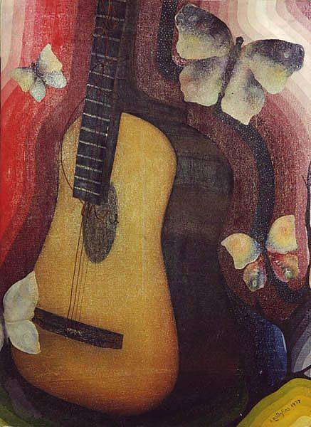 «Гитара»          холст, масло «Guitar»            oil on canvas                                                80x60,  1999