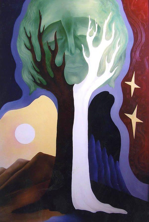 «Таинственность»    холст, масло «Mysteriousness»       oil on canvas                                                   110x80, 2000