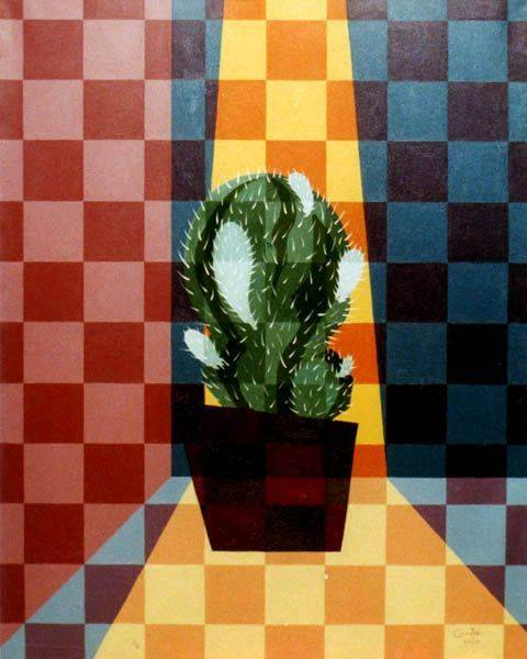 «Кактус»             холст, масло «Cactus»             oil on canvas                                                  100x80,  2002