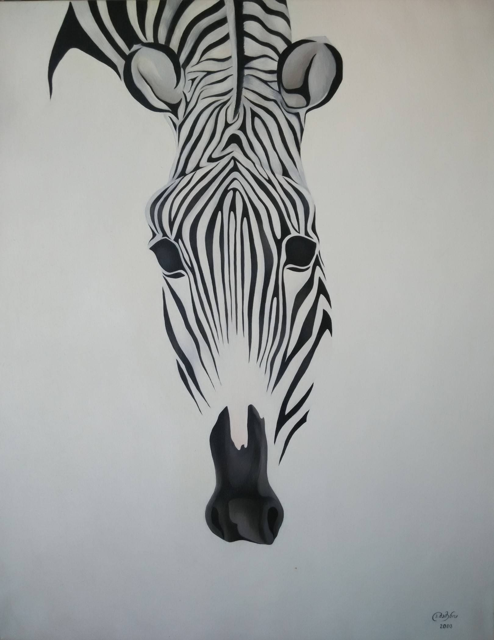 «Зебра»           холст, масло «Zebra»           oil on canvas                                                   100x80,  2003