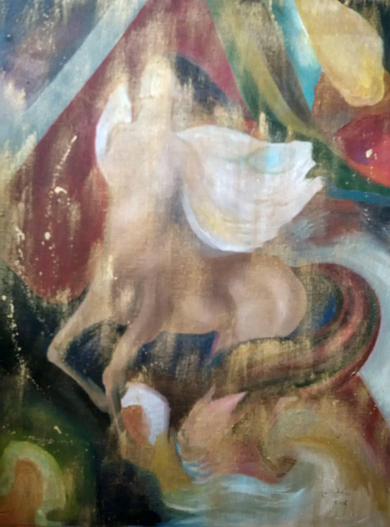 «Полет кентавра»                холст, масло «Flying of the Centaur»        oil on canvas                                                   100x90,  2004
