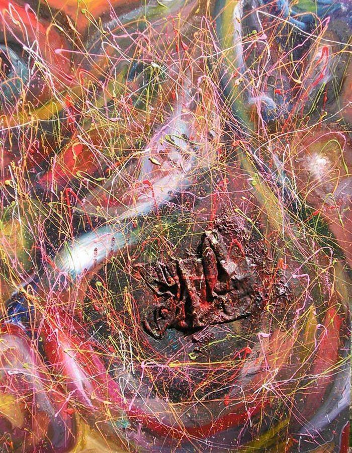 «Космическая вариация»    холст, масло «Space variation»                    oil on canvas  90x80,  2007