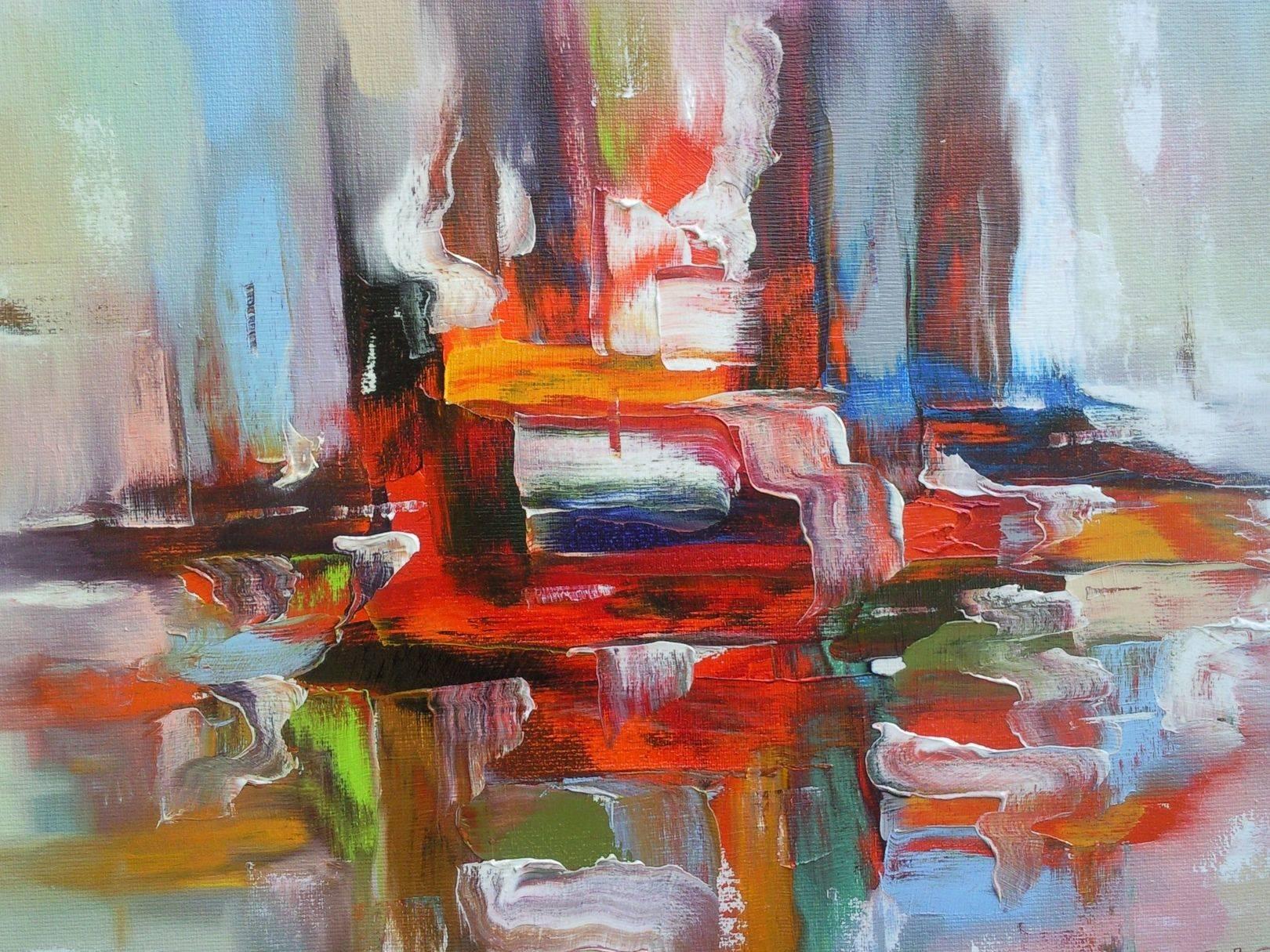 «Корабли в порту»      холст, масло «The ships in port»       oil on canvas  50x70,  2012